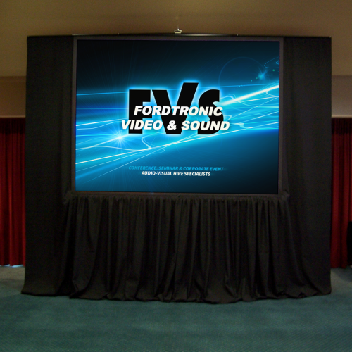 TRIPOD PROJECTION SCREENS WITH DRAPES