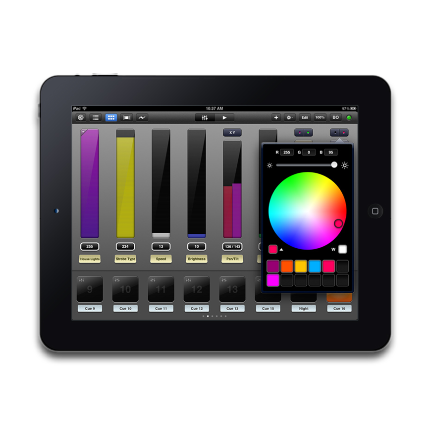 IPAD DMX LIGHTING CONTROLLER